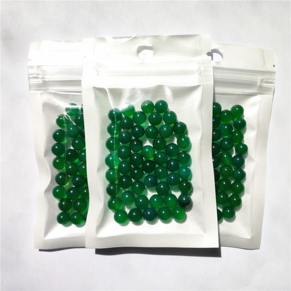 50pcs/Bag OD 6mm Terp Pearls Green Natural Agate Ball For Quartz Banger Nail Glass Bong 5