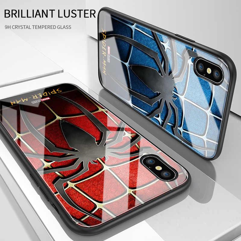 Untuk Samsung Galaxy J5 Prime ON5 2016 Marvel Spiderman Spider Logo Case Tahan Guncangan Lembut Kaca Tempered Back Cover Casing