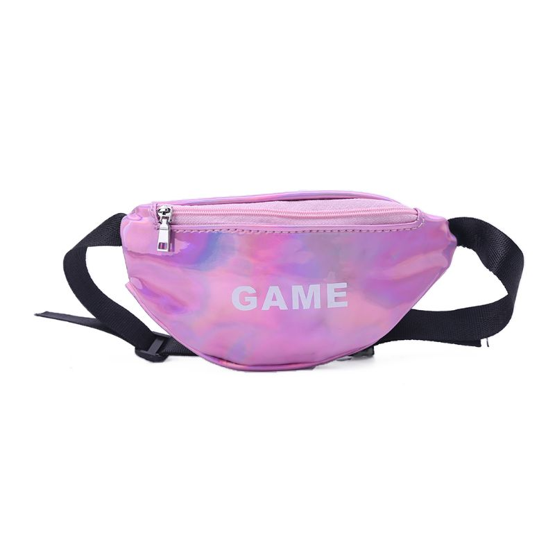 Laser Waist Bags For Children Baby Girl Letter Funny Pack Mini Kids Girl Shoulder Bags WoMan Money Waist Packs Belt Bag