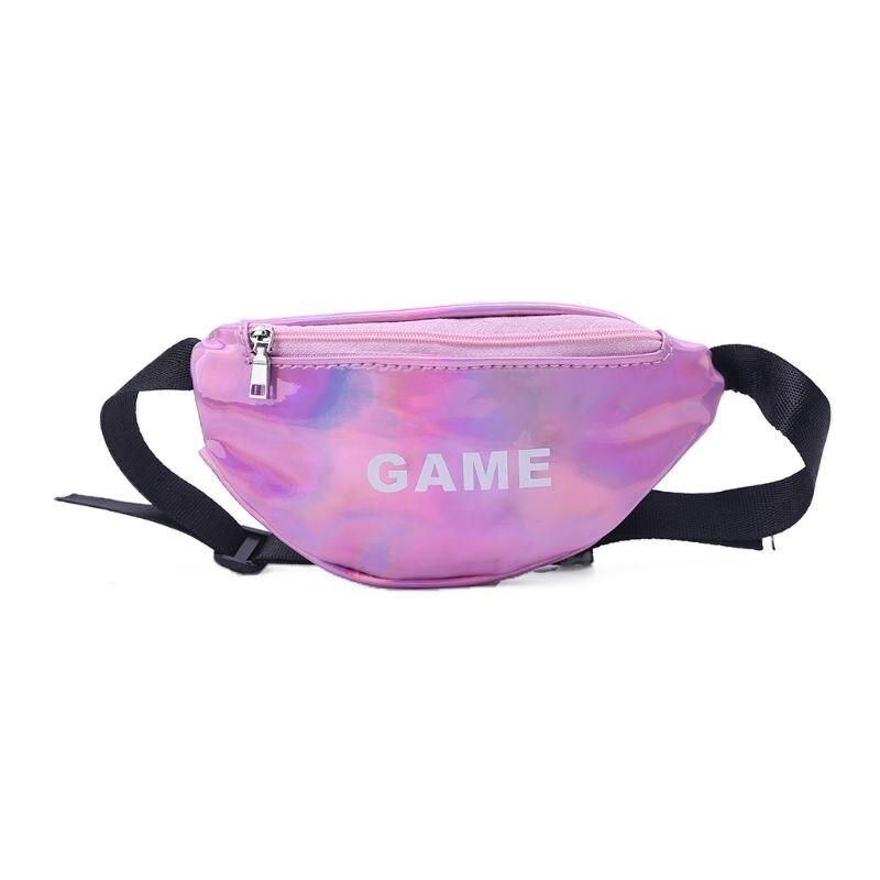 Laser Waist Bags For Children Baby Girl Letter Funny Pack Mini Kids Girl Shoulder Bags Women Money Waist Packs Belt Bag
