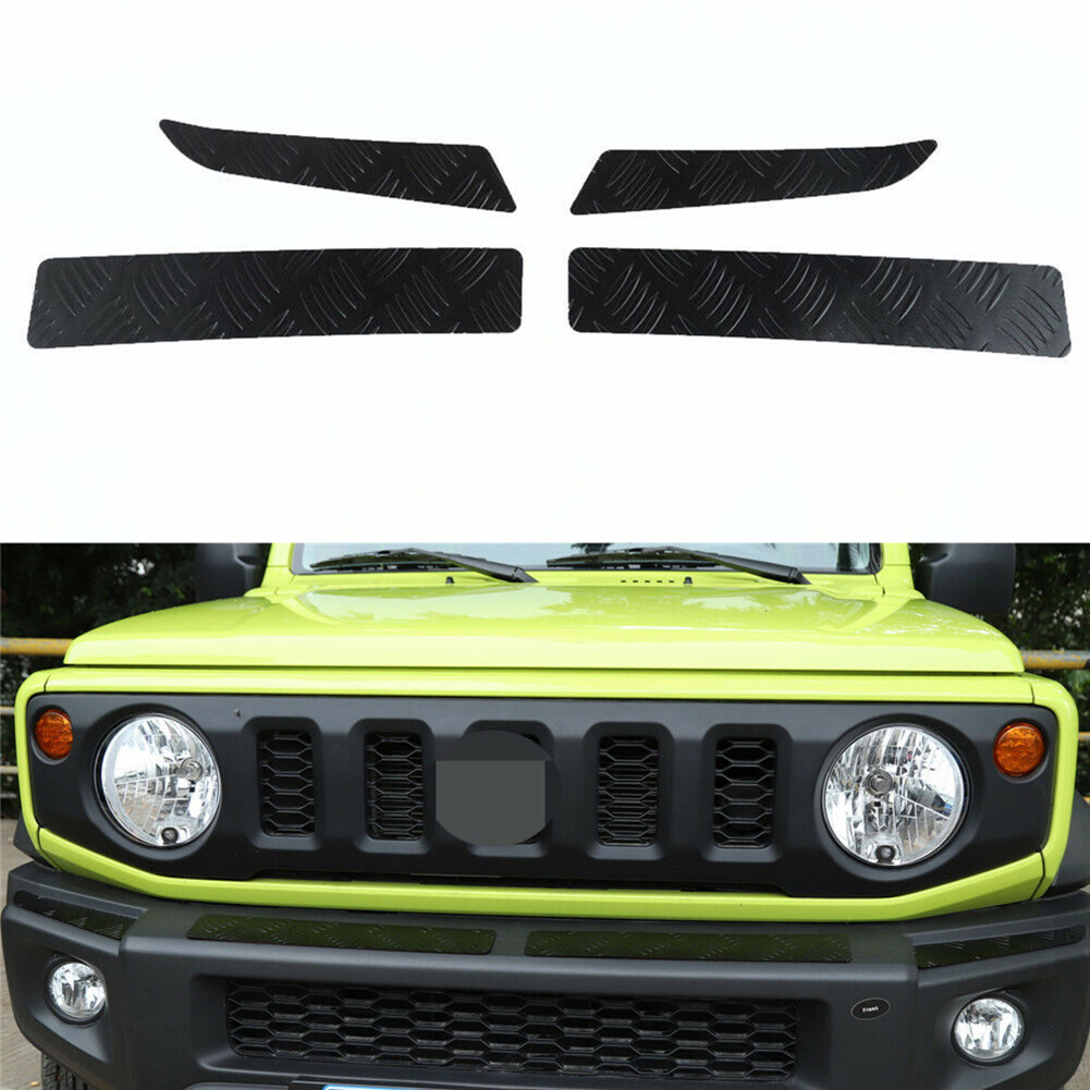 4pcs Alloy Front Bumper Protector Guard Panel Cover Trim Auto Exterior Parts For Suzuki Jimny 2019 2020 Car Accessories