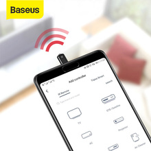 Baseus لاسلكي للتحكم عن بعد لسامسونج شاومي الأشعة تحت الحمراء التحكم عن بعد محول نوع C واجهة أندرويد STB صندوق التلفزيون