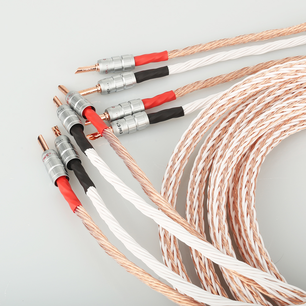 Image 5 - Pair 12TC Hifi Speaker Cable High Quality Pure OCC Speaker Wire With BFA Banana Jack