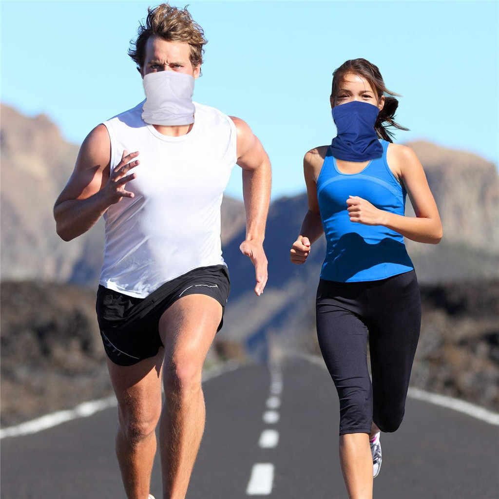 6pcs ผ้าพันคอ 2020 ฤดูร้อน UV ป้องกันคอ Gaiter ผ้าพันคอครีมกันแดด Breathable คอผ้าพันคอสำหรับผู้ชายผู้หญิง Dropshipping D6