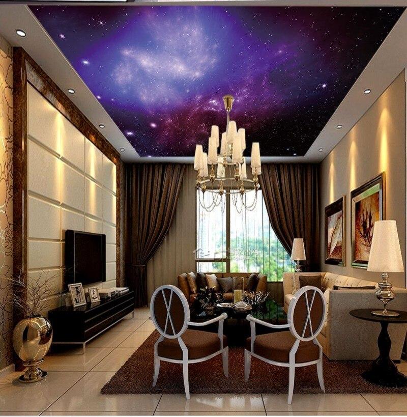 Plafond papier peint Mural De Parede beau ciel étoilé HD grande image plafond peinture fond mur - 2