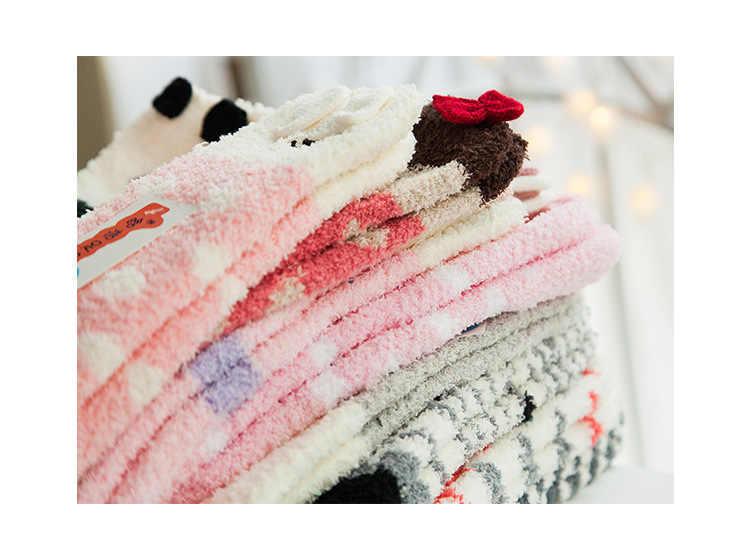 Giáng Sinh Sang Trọng Sàn Mút Kẹo Nữ Lông Tơ Người Tuyết Tất Mùa Đông Ấm Áp Mềm Mại Cosy Phòng Chờ Giường Tất Xmas Tặng