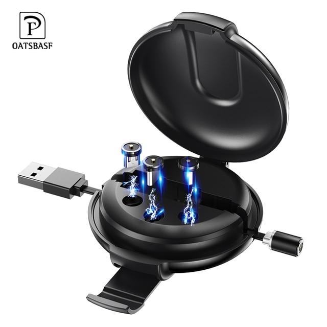 Kabel magnetyczny Oatsbasf typ C USB dla Xiao mi mi 9 mi cro kabel USB magnetyczny podnoszony kabel ładowania dla Iphone Huawei Samsung