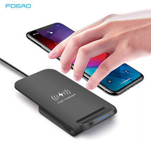 Fdgao 15W Qi Draadloze Oplader Voor Samsung S20 S10 S9 Fast Charging Stand Pad Voor Apple Iphone 11 Xs max Xr X 8 Plus Airpods Pro(China)
