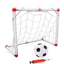 цена Portable Children Soccer Football Net Door Sports Toys 56 Cm Mini Football Door Indoors And Outdoors Removable kids Toy онлайн в 2017 году