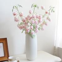 Künstliche Blumen 83cm Campanula Blume Boden Seide Mehrjährige Pflanze Getrocknete Blume Hochzeit Party Möbel Wohnzimmer Dekoration