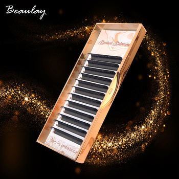 100% Handmade Russian Volume Eyelashes Extensions Beauty Natural Korea Silk Mink Individual Eye Lahe Soft  Eyelash 12Lines /Tray