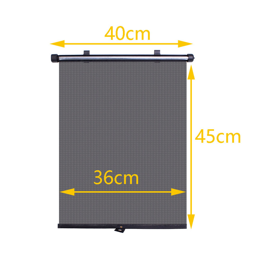 Roller Blinds Mesh Protectors Car Window Black Cover Shades Curtain Children With Suction Cups Universal Durable Sun Block Automatic Retractable