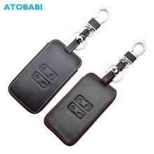 Leather Car Key Case For Renault Koleos Kadjar Scenic Megane Sandero Keyless Remote Fob Shell Protector Cover Auto Accessories