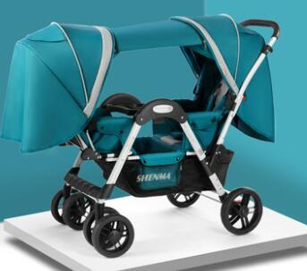 Shenma Twins Baby Stroller  can sit and lay lightweight folding Dragon and phoenix two-children front and back trolleys trisha david mctavish and twins