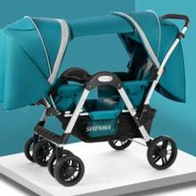 Shenma Twins Baby Stroller can sit and lay lightweight foldi