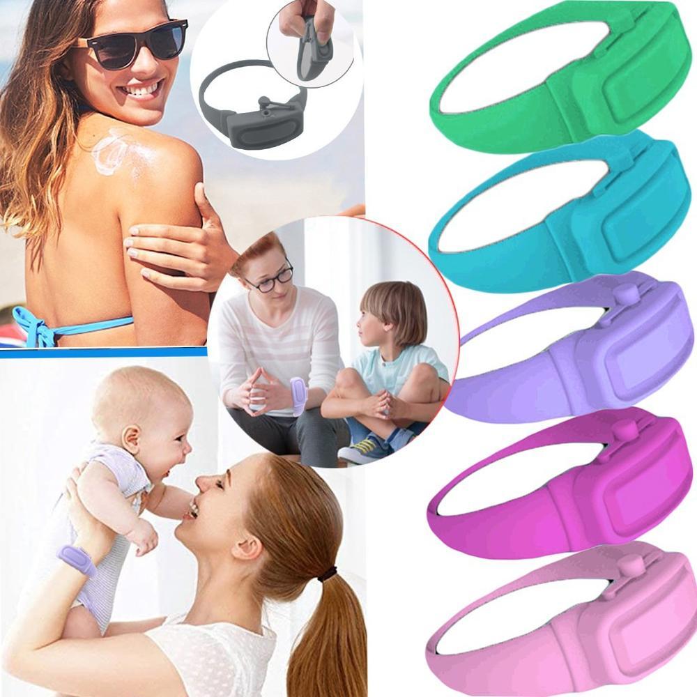 4PC Wristband Hand Gel Dispenser Bracelet Sanitzer Squeezy wristband hand dispenser Pumps Disinfecta Wristbands Hand Band Wrist 1