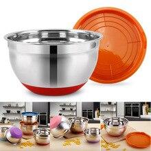 Чаша из нержавеющей стали с уплотнительной крышкой без магнитного утолщения силиконового дна салатник для выпечки яиц кухонная утварь DNJ998