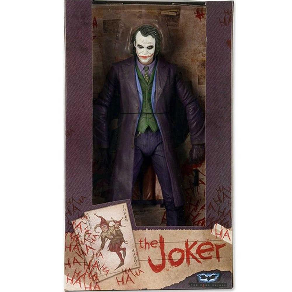 Joker Action Figure Batman 7 Inch Dark Knight Joker Heath Ledger PVC Gambar Mainan Model untuk Anak-anak Hadiah koleksi