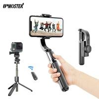 UPMOSTEK telefono stabilizzatore per fotocamera palmare Gimbal Smartphone stabilizzatori registrazione Video Bluetooth Selfie Stick treppiede Vlog Live