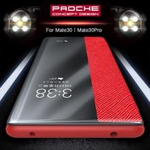 Флип чехол из 100% натуральной кожи для Huawei Mate 30 Pro, чехол с функцией сна и пробуждения, защитный чехол для Huawei Mate30