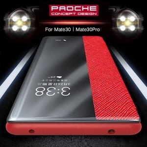 Image 1 - Флип чехол из 100% натуральной кожи для Huawei Mate 30 Pro, чехол с функцией сна и пробуждения, защитный чехол для Huawei Mate30