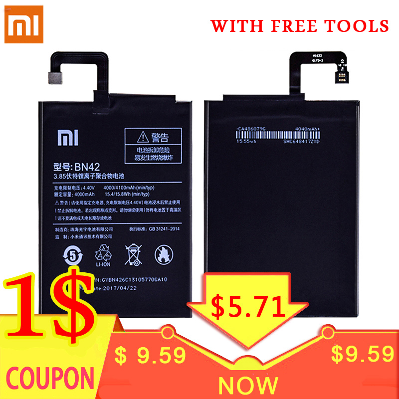 Xiaomi Battery Free-Tools BN42 BN40 Bn44-Bn35 4-4pro BM47 Original Bateria Replacement