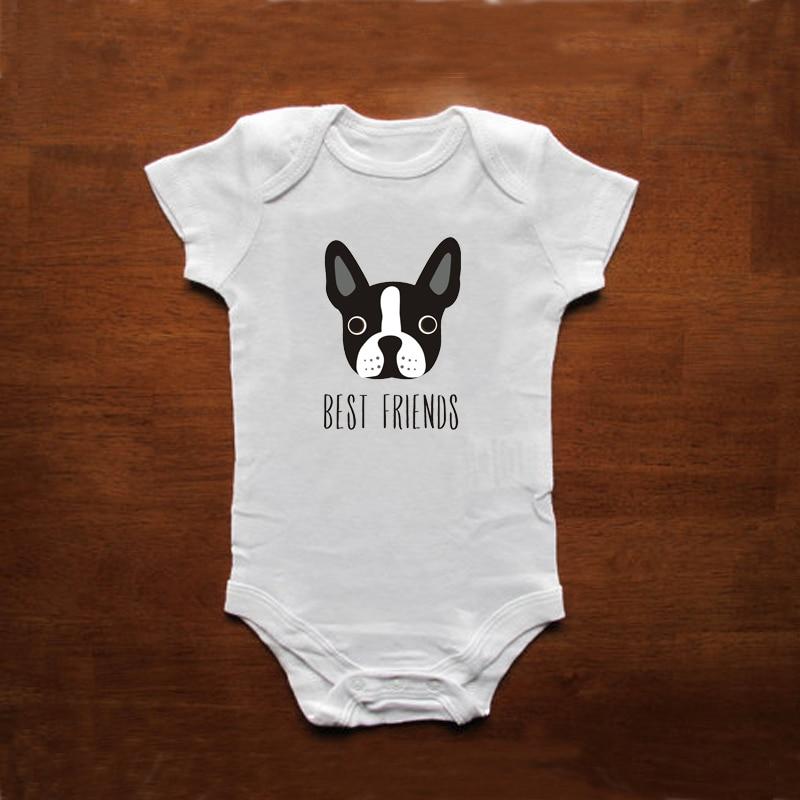 GongYe Boston Terrier Retro Baby Boys Girls Jumpsuit Bodysuit Romper Sleeveless Outfits