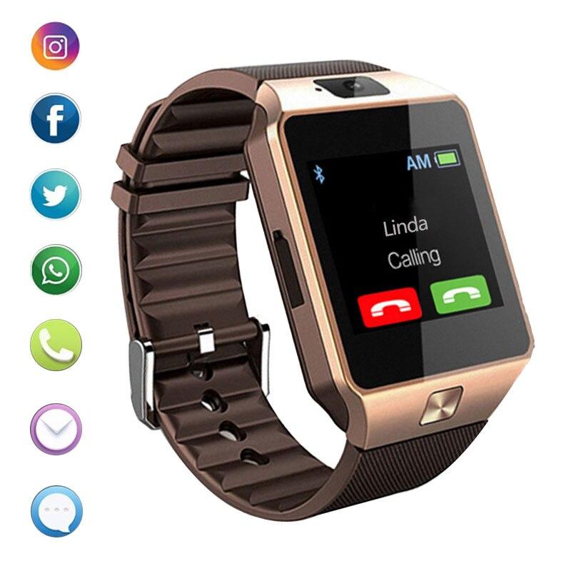 Bluetooth relógio inteligente dz09 telefone com câmera sim tf cartão android smartwatch telefone chamada pulseira relógio para android telefone inteligente