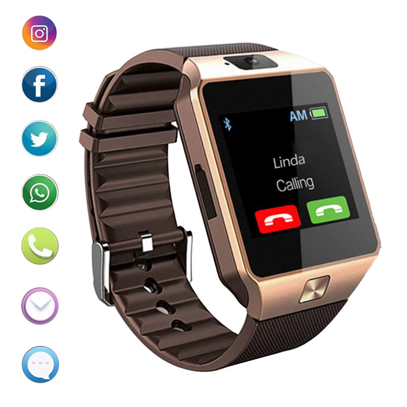 Smart Watch Men Android Phone Bluetooth Watch Waterproof Camera Sim Card Smartwatch Call Bracelet Watch Women DZ09 Free Shipping