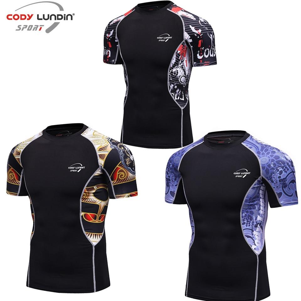 Beautiful Mma Shirt Rashgaurd For Men Jiu Jitsu Stretch Fabric Fitness Sports Fierce T Shirt Boxing Jerseys Skull Muay Thai Rash Guard Top Limpid In Sight