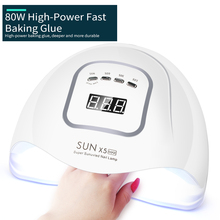 Uv-Nail-Lamp Nail-Dryer Manicure-Tools Polish Drying Max X5 Led 80W for All-Gel