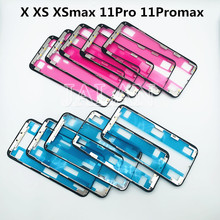 10pcs for X seires Frame With tape For phone X XS XSmax 11Pro 11Promax 12 LCD Glass Frame Repair Middle Frame Bezel best quality