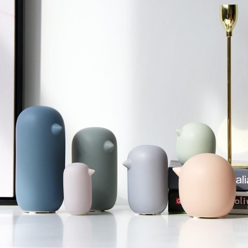 Набор из 6 керамических фигурок птиц Красочные абстрактные Маленькие Птицы Животные, статуэтки Обои для рабочего стола креативное украшение дома