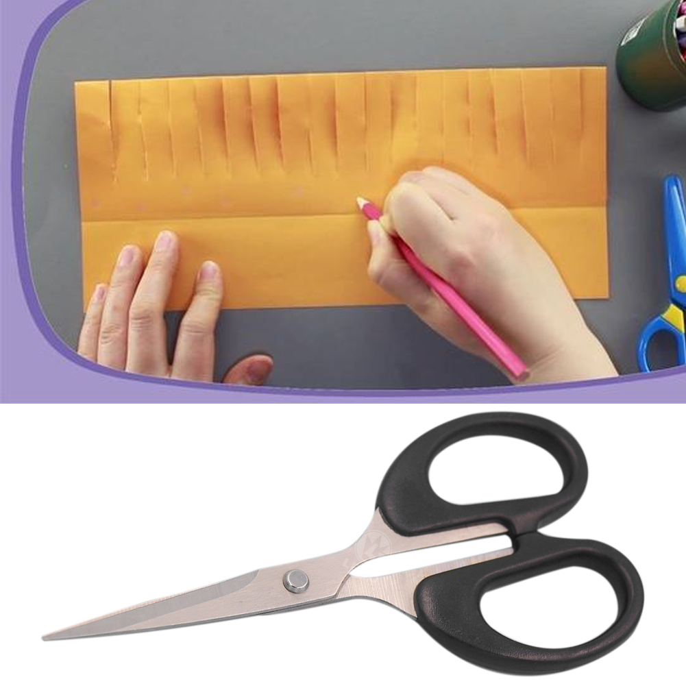 14x6.2cm School Home Cutting Craft DIY Scissors Stationery Manual Cloth Durable Stainless Steel For Office Tools Paper