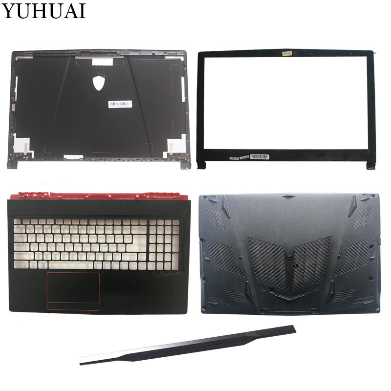 New For MSI GE63 GE63VR LCD Top Cover Case/LCD Bezel Cover/Palmrest COVER/Bottom Case/hinges Cover