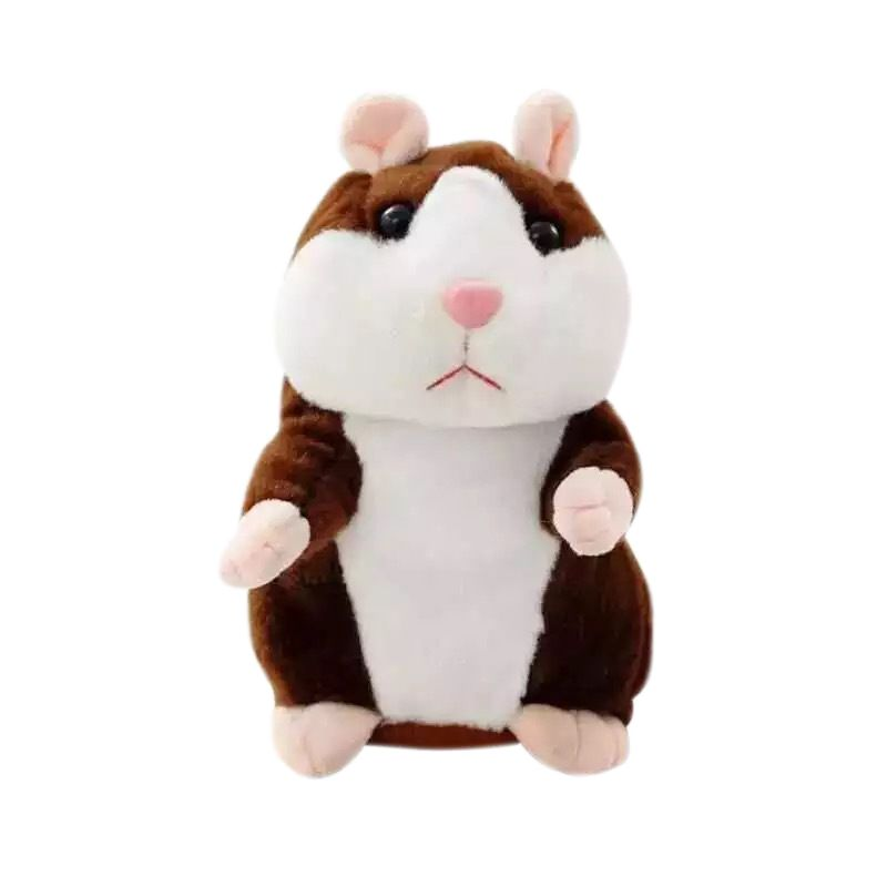 Cheeky Hamster Talking Mouse Pet Christmas Toy Speak Sound Record Hamster Xmas Record Mouse Pet Electronic Plush Toy New