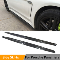 Carbon Fiber Auto Side Skirts Extension Lips for Porsche Panamera 2010 2013 Car styling