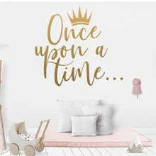 Creative Once Upon A Time Frase Quotes Wall Decal for Kids Room Vinyl Stickers Mural Baby Bedroom House Decoration LW490