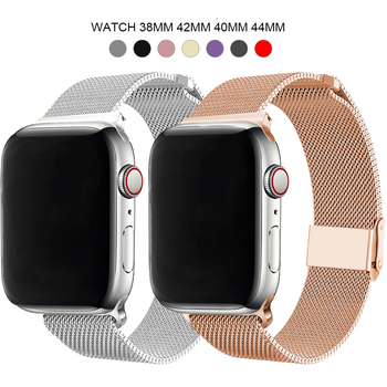 Milanese Stainless Steel Metal for apple watch Watchband 38mm 40mm 42mm 44mm Band Strap for iwatch Bracelet series 5 4 3 2 1 for suunto core series watch milanese strap high quality stainless steel watchband 24mm adapter