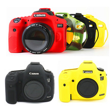 Silicone DSLR Camera Case Cover Bag for Canon EOS R 90D 250D 5D Mark III IV 6D II 6D2 5D3 5D4 1300D 800D 850D SL3 T8i T7i T6