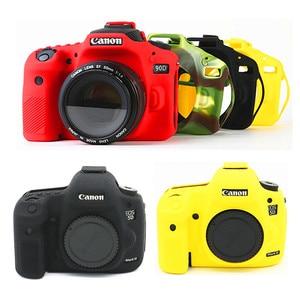 Image 1 - Silicone DSLR Camera Case Cover Bag for Canon EOS R 90D 250D 5D Mark III IV 6D II 6D2 5D3 5D4 1300D 800D 850D SL3 T8i T7i T6