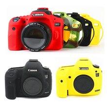 Silikon DSLR kamera kılıf kapak çanta Canon EOS R 90D 250D 5D Mark III IV 6D II 6D2 5D3 5D4 1300D 800D 850D SL3 T8i T7i T6