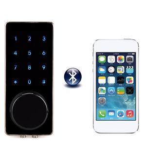 Image 1 - Ofis akıllı Bluetooth dokunmatik sineklikli kapı kilidi dijital şifre tuş takımı kapı kilidi akıllı telefon uygulaması ile otel daire için F1401A