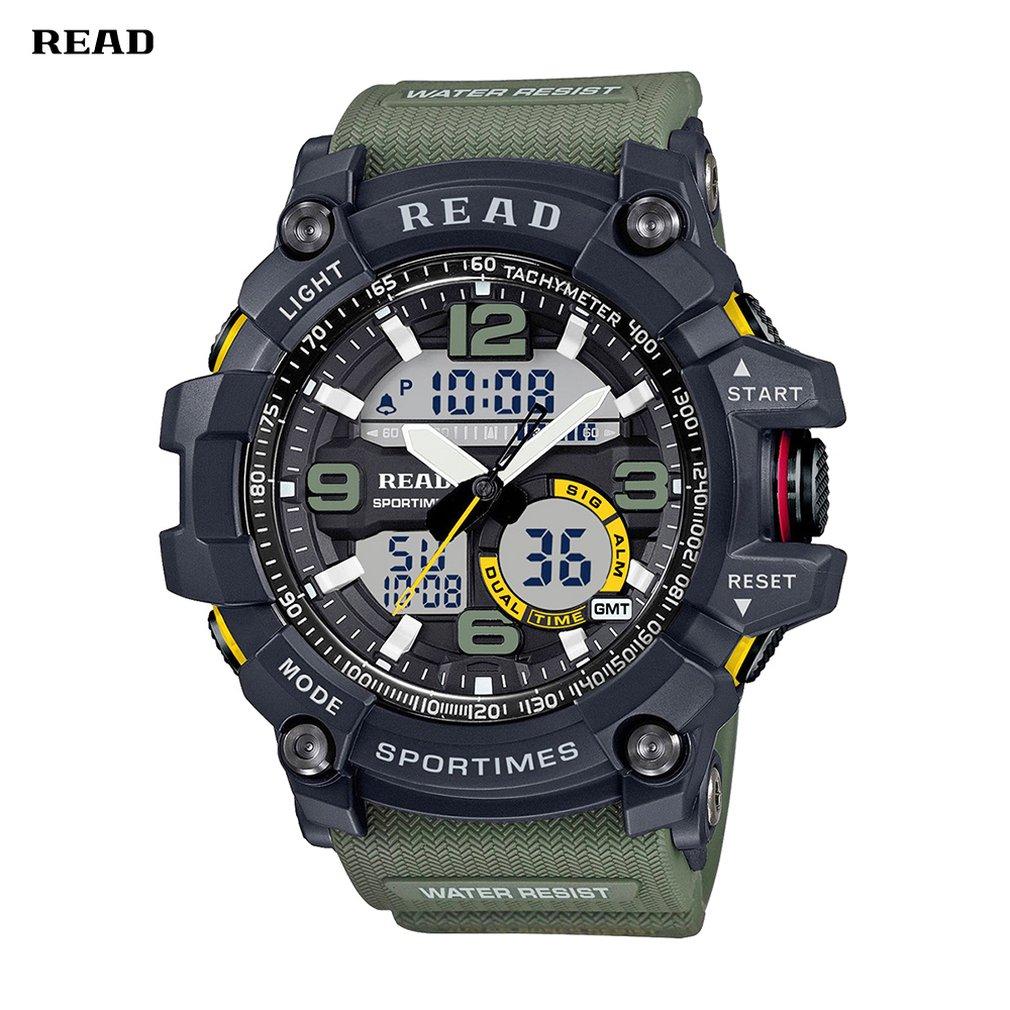 Men'S  Watch Multifunction Luminous Quartz Watch  Mechanical Pointer Watch Silicone Outdoor Men'S Watch