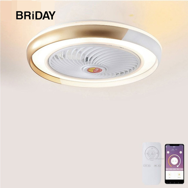 Bluetooth APP smart ceiling fan with light remote control fans with lights ventilator lamp air cool bedroom decor 50cm modern