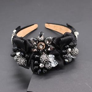 Image 3 - Travel and leisure personality headband  New fashion temperament exaggerated rhinestone bow headband 677