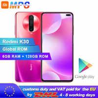 Nouveau Smartphone Original Xiaomi Redmi K30 6GB 128GB 4G Snapdragon 730G Octa Core 64MP caméra 120HZ affichage fluide 4500mAh