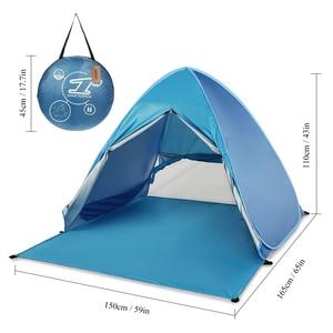 Image 3 - KEUMER 1 2 kişi açık plaj çadırı Pop up açık kamp balıkçı çadırı taşınabilir su geçirmez UV koruyucu çadır barınak