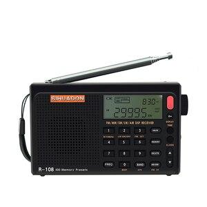 Image 3 - Radiwow SIHUADON R 108 FM Stereo Digital Portable Radio Sound Alarm Function Display Clock Temperature Speaker as Parent gift