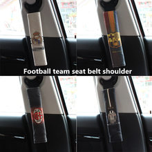 Car seat belt shoulder cover decorated with Barcelona Real Madrid Arsenal Chelsea Inter Milan football fan supplies 2PCS